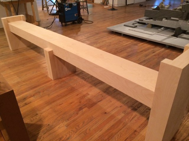 fabrication of custom display pedestals by Arts Management Services LLC