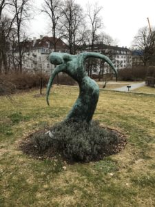 Bronze Sculpture at the US Ambassador's Residence in Oslo Norway