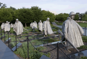 Korean War Memorial in Washington, DC