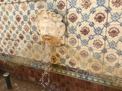 Detail of Restored Fountain at the US Embassy in Lisbon, Portugal by Bob Hannum