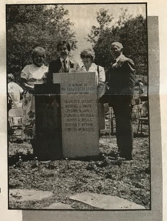 The Roselli Family at the dedication of the Challenger memorial